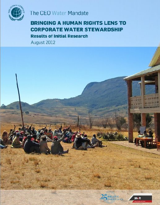 Bringing a Human Rights Lens to Corporate Water Stewardship