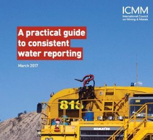 ICMM - 'A Practical guide to consistent water reporting report' cover