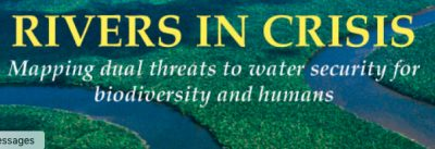 Rivers in Crisis logo - text: Mapping dual threats to water security for biodiversity and humans