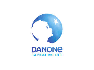 Danone logo text: one planet, one health