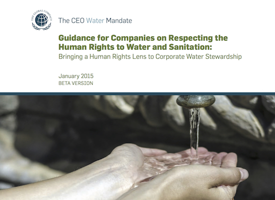 Guidance for Companies on Respecting the Human Rights to Water & Sanitation