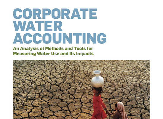 Corporate Water Accounting cover