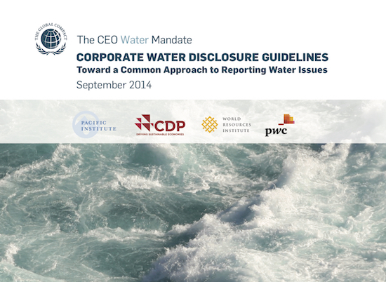 corporate water disclosure guidelines