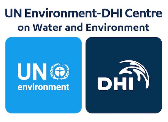 Un Environment and DHI logos