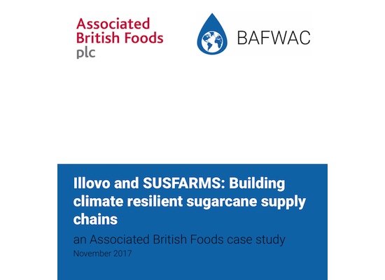 Illovo and SUSFARMS Case Study Cover: Building Climate Resilient Sugarcane Supply Chains