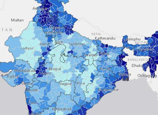 map of india showing areas with high water supply