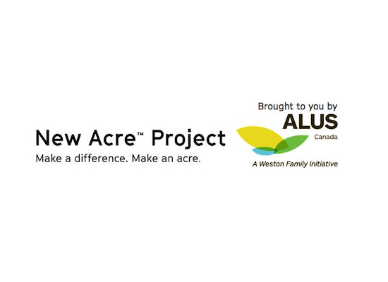 New Acre Project logo - text: brought to you bu ALUS Canada