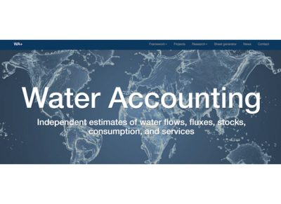 Text: Water Accounting - Independent estimates of water flows, fluxes, stocks, consumption, and services