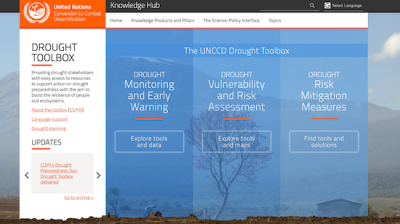 the UNCCD Drought Toolbox Home Page Screenshot